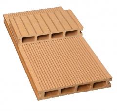 军森木塑地板方孔150*25一面宽沟槽一面窄沟槽  货号100.H103 青灰色