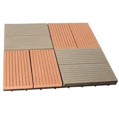 军森木塑地板DIY地板JS2 300*300  货号100.H113 柚木色