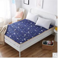 九洲鹿家纺 软垫舒适透气床垫四季保护垫  繁星点点 1.8米床  货号100.ZD703 1.5mx2.0m