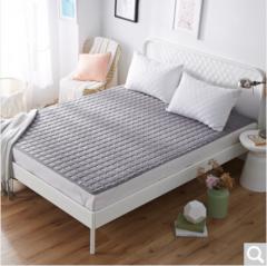 九洲鹿家纺 软垫舒适透气床垫四季保护垫 休闲床垫子 床褥子 灰色 1.5米床 货号100.ZD705 1.5mx2.0m