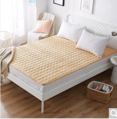 九洲鹿家纺 软垫舒适透气床垫四季保护垫 休闲床垫子 床褥子 驼色 1.8米床 货号100.ZD706 1.5mx2.0m