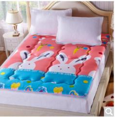 九洲鹿家纺 榻榻米可折叠学生加厚床褥垫子 大白兔-1.8x2m 货号100.ZD708 1.5mx2.0m