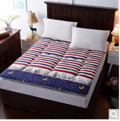 九洲鹿家纺 榻榻米可折叠学生加厚防滑床褥垫子 城市夜空-1.8x2m 货号100.ZD711 1.5mx2.0m