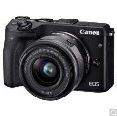 佳能(Canon)EOS M3(EF-M 15-45mm f/3.5-6.3 IS STM) 微型单电套机 黑色 轻便 小巧 广角  货号100.X678