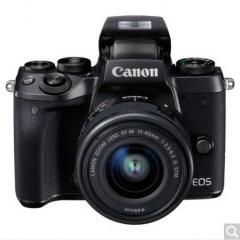 佳能(Canon)EOS M5 (EF-M 15-45mm f/3.5-6.3 IS STM) 微型单电套机 黑色 高速对焦 高速连拍  货号100.X681