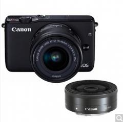 佳能(Canon)EOS M10微型单电双头套机 黑色  货号100.X683