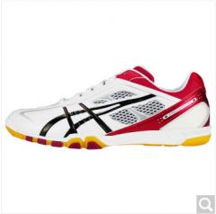 ASICS亚瑟士 乒乓球鞋女款 专业透气运动鞋 TPA327-0123 白/红 37-43.5  货号100.ZD755 37码