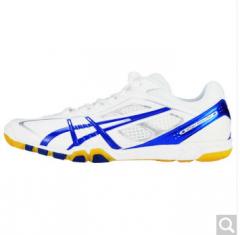 ASICS亚瑟士 乒乓球鞋男鞋 专业透气运动鞋 TPA327-0142 白/蓝 37-43.5码 货号100.ZD756 37码