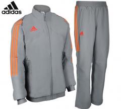 阿迪达斯adidas 男款运动休闲服套装 羽毛球服 夹克长袖上衣 运动长裤 S-XXL码  货号100.ZD761 S