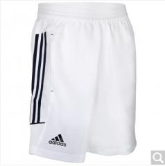 阿迪达斯adidas 男款羽毛球服 运动休闲服 羽毛球短裤 S27881 S-XXL码 白色 货号100.ZD762 S