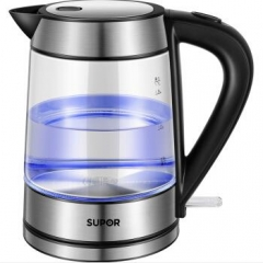 苏泊尔(SUPOR)玻璃电水壶热水壶高硼硅玻璃电热水壶  货号100.X696