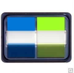 齐心(Comix)D7007EC 荧光膜指示标签/便签条/便利贴/百事贴 3个装 (44x30mm)20张*2色 货号100.ZD775 二十四本装 20张x2色