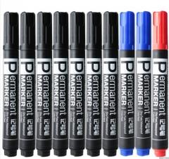 得力记号笔10支装 (7黑+2蓝+1红)货号100.N25