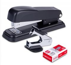 得力订书机套装(订书机+订书钉+起钉器)货号100.N26