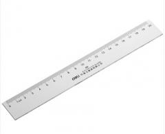 得力 20cm塑料直尺 货号100.N37