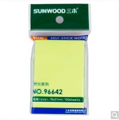 三木(SUNWOOD) 96642 荧光指示标签/便签纸/便利贴(76×51mm)颜色随机 货号100.ZD785
