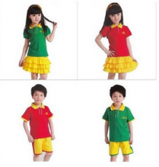 幼儿园园服 校服 运动服 套装 货号100.L374 100CM 男红色