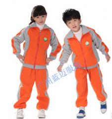 幼儿园校服园服 冬装校服 运动服 套装  货号100.L375 110CM 男红色