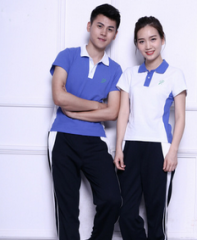 中学生男女校服 运动服  套装  货号100.L382 170CM  女生短袖