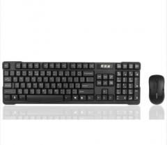 双飞燕(A4TECH) 3200N 无线鼠标键盘套装 无线键盘鼠标套装 无线键鼠套装 电脑键盘 笔记本键盘 黑色  货号100.X833