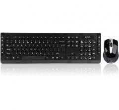 双飞燕(A4TECH) 6300F 无线鼠标键盘套装 无线键盘鼠标套装 无线键鼠套装 多媒体键盘 电脑键盘 笔记本键盘 黑色  货号100.X834