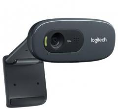 罗技(Logitech)C270 高清网络摄像头台式机视频电脑摄像头 黑色  货号100.X837