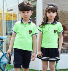 夏季中小学生校服 幼儿园园服 班服 运动服  套装  货号100.L391 100CM  男款套装