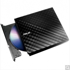 华硕(ASUS) 8倍速 USB2.0 外置DVD刻录机 移动光驱 黑色(兼容苹果系统/SDRW-08D6S-U)  货号100.X842