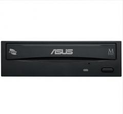华硕(ASUS) 24倍速 SATA DVD刻录机 黑色(DRW-24D5MT)  货号100.X844