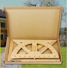 办公文教用品 数学绘图工具 大号木质教学套装四件套 货号888.LS95 原木色 一套4个
