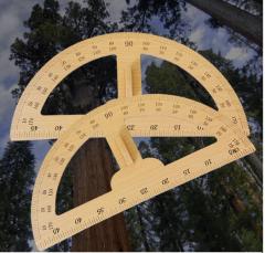 教学演示绘图测量木质大号直尺子手持量角器批发一件代发货号100.ZD856 原木色 50cm
