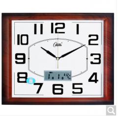 康巴丝(COMPAS)挂钟 客厅钟表带日历挂钟创意石英钟c2524 木色 货号100.ZD865 2524  木色