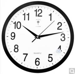 北极星 挂钟时尚创意客厅钟表 静音简约石英钟 2842  货号100.ZD869 黑色