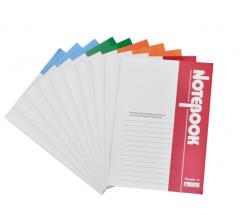 广博(GuangBo)10本装40张A5 办公记事本子日记本软抄本颜色随机 货号100.XY21