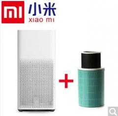 小米(MI)空气净化器2家用公司办公室智能除甲醛雾霾二手烟PM2.5 小米空气净化器2代+除甲醛滤芯  货号100.X847