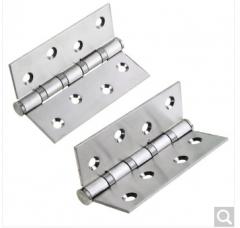 雨花泽(Yuhuaze) 两片装不锈钢合页YHZ-7630 静音轴承 铰链 货号100.ZD871 两片装银色