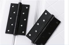 雨花泽(Yuhuaze)两片装不锈钢合页 平开加宽静音轴承室内房门防锈铰链 黑色  货号100.ZD873 两片装黑色