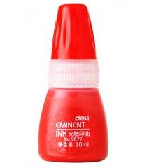 得力10ml 光敏印油(红色)货号100.N85