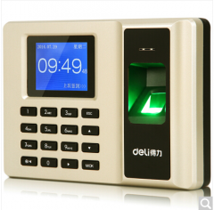 得力(deli)33153 智能指纹考勤机 免软件脱机打卡机 自动生成报表 U盘下载  货号100.ZD880 新版土豪金免软件脱机打卡机