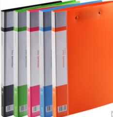齐心  A4欢颜系列双强力夹/文件夹(5个配色装)货号100.N94