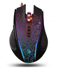 双飞燕(A4TECH)P87 光微动游戏鼠标 5K GRB彩漫游戏鼠标 有线鼠标  货号100.S857