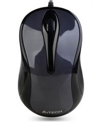 双飞燕(A4TECH)N-350 有线鼠标 办公鼠标 USB鼠标 笔记本鼠标 黑色  货号100.S867