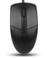 双飞燕(A4TECH) OP-520NP 有线鼠标 办公鼠标 PS2鼠标 笔记本鼠标 黑色 货号100.S870
