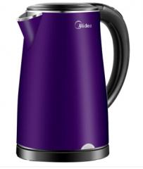 美的(Midea)新款热水壶304不锈钢家用快速烧水 HJ1705HD紫色 货号100.C734