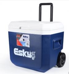 ESKY 52升拉杆保温箱 户外PU发泡自驾/烧烤/钓鱼冷藏保鲜 拉杆滚轮式冷藏箱 蓝色  货号100.S874
