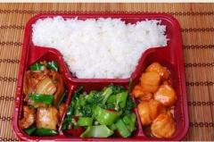 一次性环保餐盒四格外卖餐盒10箱1500个 单价1.2元  货号100.H126