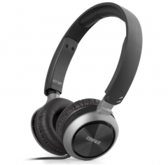 漫步者(EDIFIER)K710P 便携头戴式多媒体耳机 手机耳机 音乐耳机 可通话 酷雅黑 货号100.S1143