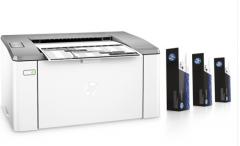 现货次日达惠普LaserJet Ultra M106w黑白激光打印机 三支碳粉装 无线A4打印货号100.L422GD