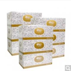 心相印抽纸 盒抽纸巾盒装纸商务会议用纸酒店双层抽取式纸巾D200抽3提9盒  货号100.X905