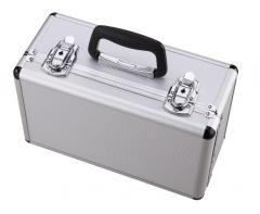 非现货7日达 储物箱小号 铝合金储蓄箱家用文件箱子 银色 带锁功能 外箱 33*24*12 cm 货号100.S1218